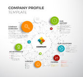 Vector Company infographic overview design template Stock Photos