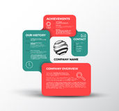Vector Company infographic overview design template Royalty Free Stock Photography