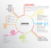 Vector Company infographic overview design template Stock Images