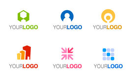 Vector company logo set Royalty Free Stock Image