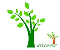 Drawing company logo tree. stock illustration