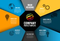 Vector Company profile Infographic diagram template Royalty Free Stock Photos