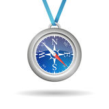 Vector compass with cord Stock Photo