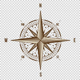 Vector Compass. High Quality Illustration. Old Style. West, East, North, South. Wind Rose Simple   Stock Images