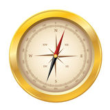 Vector compass icon. On white background Stock Photography