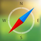 Vector compass icon Stock Photos