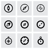 Vector compass icon set Royalty Free Stock Photography