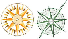 Vector Compasses. Two compasses - Vector File, change colors as you like Royalty Free Stock Photography