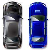 Vector a competência de carros de esportes. Fotografia de Stock Royalty Free