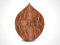 Vector complete coconut Royalty Free Stock Image