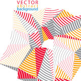 Vector complicated 3d backdrop, modern digital technology style. Form. Abstract stripy bright three-dimensional background Stock Photography