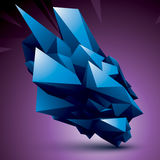Vector complicated 3d figure, modern digital technology style co. Lorful form. Abstract unusual background vector illustration