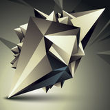 Vector complicated 3d figure, modern digital technology style fo. Rm. Abstract unusual background Stock Images