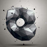 Vector complicated 3d figure, modern digital technology style. Form. Abstract unusual background stock illustration