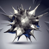 Vector complicated 3d figure, modern digital technology style. Form. Abstract unusual background royalty free illustration