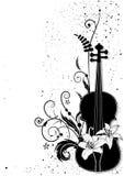 Vector a composição musical floral Imagem de Stock Royalty Free