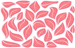 Vector composition of abstract pink leaves Royalty Free Stock Images