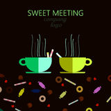 Vector composition of two cups royalty free illustration