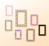Vector. The composition of the wall frames. Delicate background color Royalty Free Stock Photo