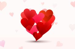 Vector compound hearts Stock Photo