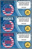 Vector comprovantes na venda americana brilhante com uma bandeira Foto de Stock Royalty Free