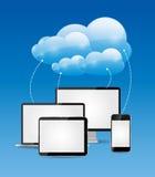 Vector computacional del concepto del negocio de la nube Fotos de archivo