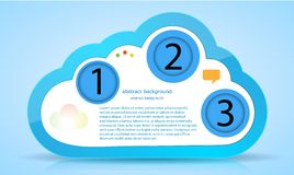 Vector computer cloud web design. Eps10 Stock Image