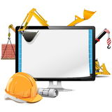 Vector Computer Construction Project Royalty Free Stock Image