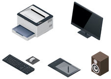 Vector computer devices icon set Royalty Free Stock Images