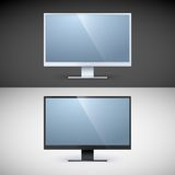 Vector computer displays on black and white Stock Image