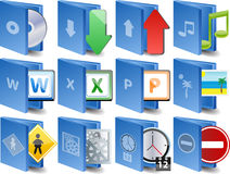 vector Computer icon set Royalty Free Stock Image