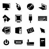 Vector Computer icon set. On white background Stock Image