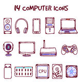 Vector computer icons Royalty Free Stock Image