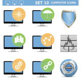 Vector Computer Icons Set 10 Stock Photo