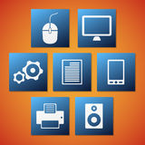 Vector computer icons Stock Photos