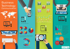 Computer Laptop Technology Business Communication across world modern Idea and Concept Vector illustration Infographic template wi. Vector Computer Laptop vector illustration