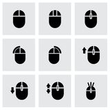 Vector computer mouse icon set. On grey background Stock Photography