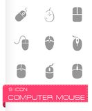 Vector computer mouse icon set Royalty Free Stock Photography