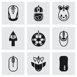 Vector Computer mouse icon set Royalty Free Stock Images
