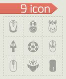 Vector Computer mouse icon set Stock Images