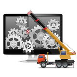 Vector Computer Repair Concept Royalty Free Stock Photography