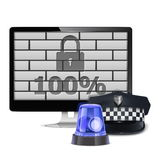 Vector Computer Security Concept Royalty Free Stock Images