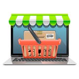 Vector Computer Shopping Concept Stock Photo