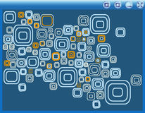 Vector computer window with background;. Blue Vector computer window with background Stock Photos