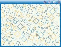 Vector computervenster met achtergrond; Stock Fotografie