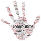 Vector a comunidade, social, cópia da mão da conexão ilustração royalty free