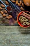 Vector con los ingredientes de la hornada Fotografía de archivo
