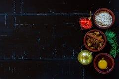Vector con los ingredientes de la hornada Imagen de archivo