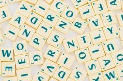 Vector con muchos carta inglesa Imagenes de archivo