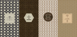 Vector conceitos e moldes de projeto do logotipo no estilo linear na moda ilustração do vetor